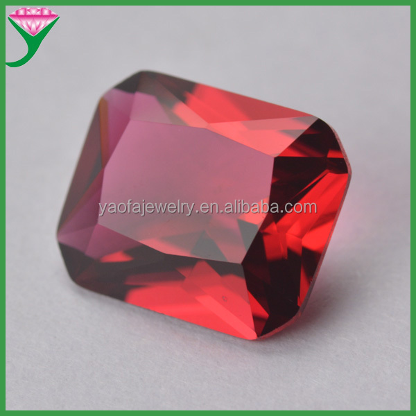 supplier wholesale synthetic rough 11*13 mm rose octagon decorative colored glass stones