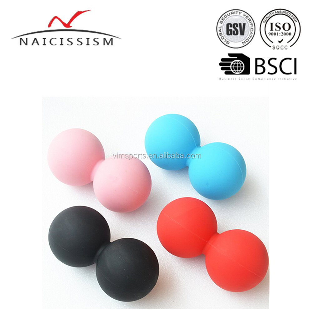 engraved Logo Peanut shape Lacrosse Massage Ball