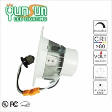 UL listed 4 inch 3000k aluminum trim and bracket 11w cob down light low price led downlight