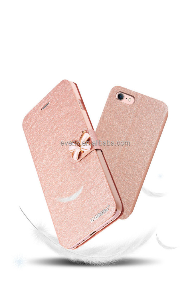 "Luxury Fashion Butterfly Built-in Card slot Silk Pattern 4.7"" Stand Flip Leather Mobile Phone Case For iPhone 6 Plus"