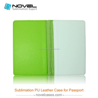2015 wholesale price colorful blank sublimation passport leather cover