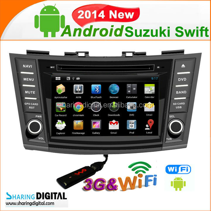 Android 4.2.2 Car Satnav player For Suzuki Swift 2011-2013 car dvd radio player gps navigation with 3G mirror-link OBD2