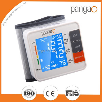 Digital wrist type blood pressure monitor with charge measurement/2015 Manufacturer Automatic digital blood pressure monitor