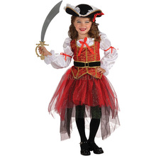 Halloween Party Girl Pirate Costume children clothes for Kid