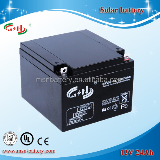Large solar energy storage battery 12V 26Ah with long life