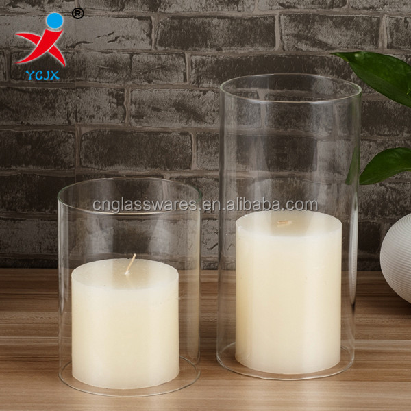hollow borosilicate cylinder glass tube glass candle cover