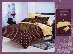 Dots /Filling Quilt Polyester Quilt Cover Set Twin/King/Queen Size For your Choice