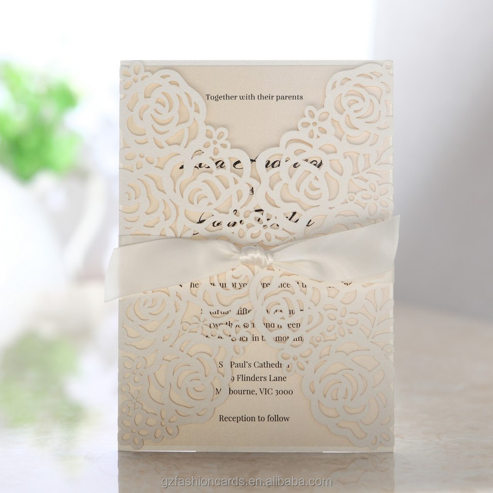 2014 Custom Luxury Laser Cut Wedding Invitations Design