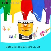 Algae antibacterial and anti contamination low elastic flat exterior wall paint