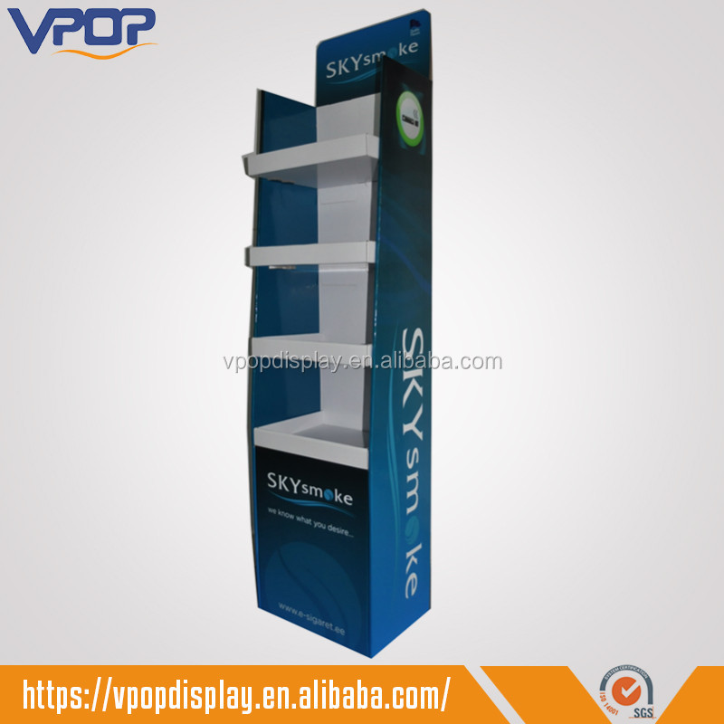 POS Corrugated Paper Floor Display Stands for Cigarettes