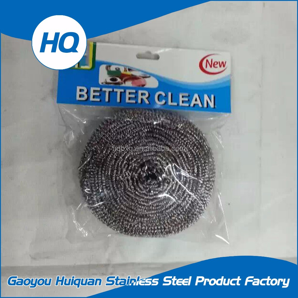 Directly supplying kitchen stainless steel mesh scourer cleaning ball