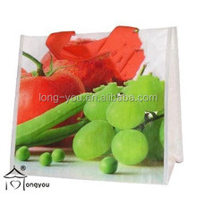 eco friendly laminated PP woven shopping clear recycled clear tote bag