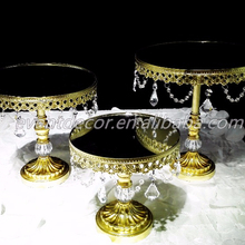 Metal golden Party Dessert Cupcake Display/3 size wedding cake stand