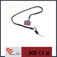 wholesale custom plastic zipper lanyard