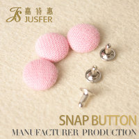 15MM Round Shaped Button Flatback Fabric