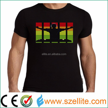 Big event musical concert theme party sound activated promotional t shirt