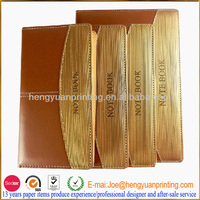 Office Supply Stationery Gold Color Leather