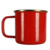 350ml red custom stainless steel enamel mug with gold rim and logo prining