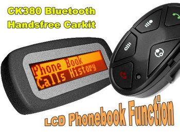 CK380 BLUETOOTH HANDSFREE CAR KIT WITH LCD FOR CALLER ID DISPLAY