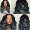 Aliexpress high quality cheap full lace ombre mixed grey wig for black woman