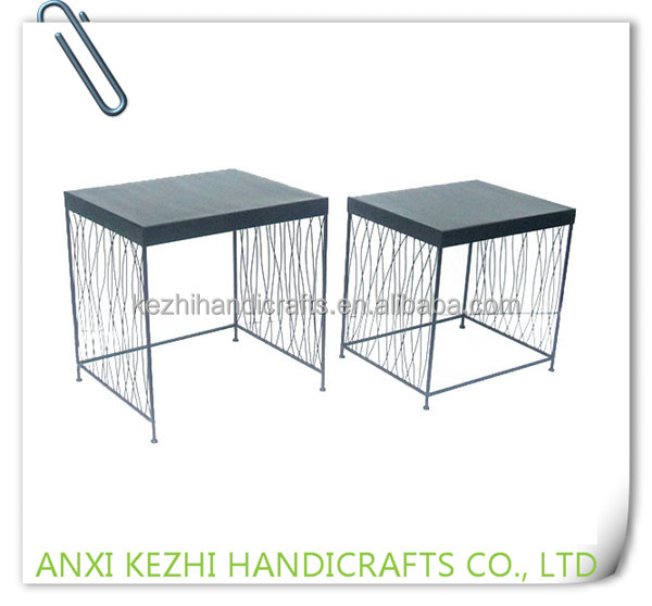 LC-78114 Sets of 2 modern home decoration wrought iron metal plant stand
