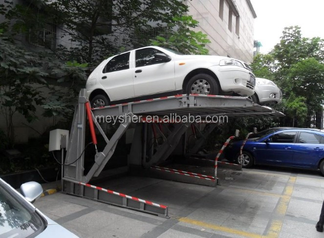 2 Colums Titling Simple Valet Parking 2 Levels Car Lift