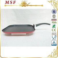 28cm square press aluminum grill pan with non stick coating