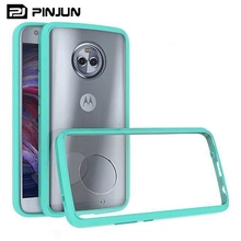 Transparent TPU PC Case Hybrid Bumper Shockproof Back Cover For Motorola Moto X4 Phone Accessories ,Aryclic Case