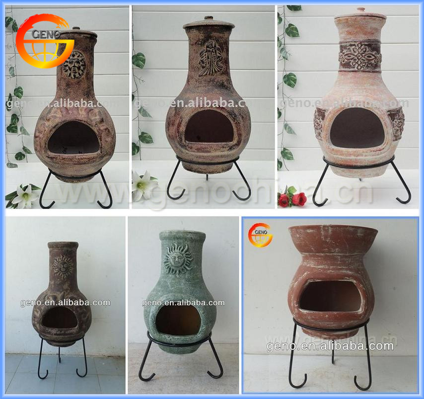 Best hot sale classic sun face clay chimineas for sale for Terracotta chiminea