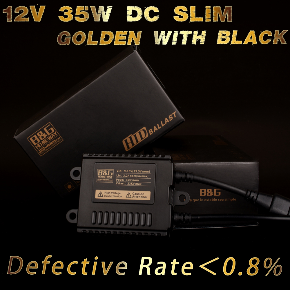 B&G Stable Performance 0.8% Low Defective 12V/24V 35W/55W SLIM THICK XENON HID BALLAST with 14 Month for DC 18 Month for AC