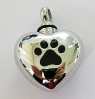 2015 hot sale jewelry enamel pet heart-shaped cremation urn pendant