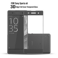 China Wholesale Free Sample Anti-Shatter 9H 3D Tempered Glass Screen Protector For Sony Xperia Xa /