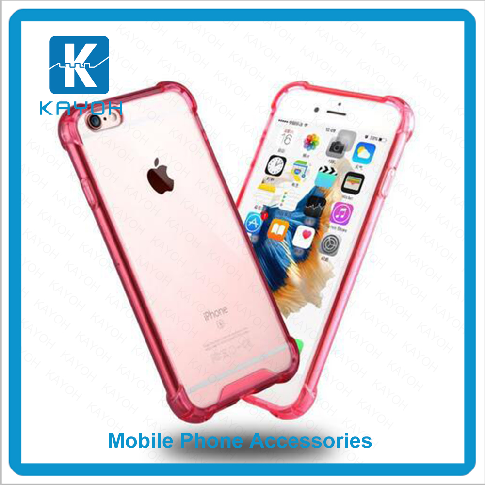 [kayoh]Soft TPU fame and hard transparent acrylic anti-shock mobile phone case cell phone covers for iphone 6sp