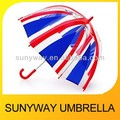 Plastic Union Jack Custom Clear Umbrella