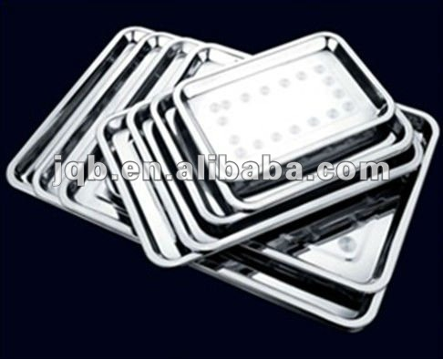 Winolaz custom stainless steel bar tray of rectangle shape and low price