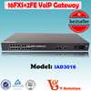 2* 10/100M Ethernet port and 16 FXS VoIP networkSIP Gateway telecom Equipment