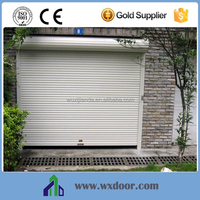 Motorized Outdoor PU foam filling Aluminum Roller Shutter Door/Garage door