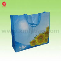 Promotional Laminated Reusable Pictures Printing Non Woven Shopping Bag