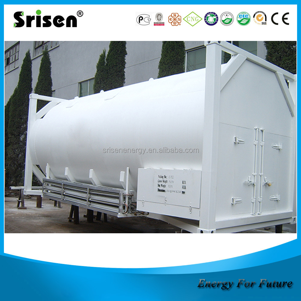 40FT lng cryogenic storage tank system, cryogenic liquid storage tank,lng tank container