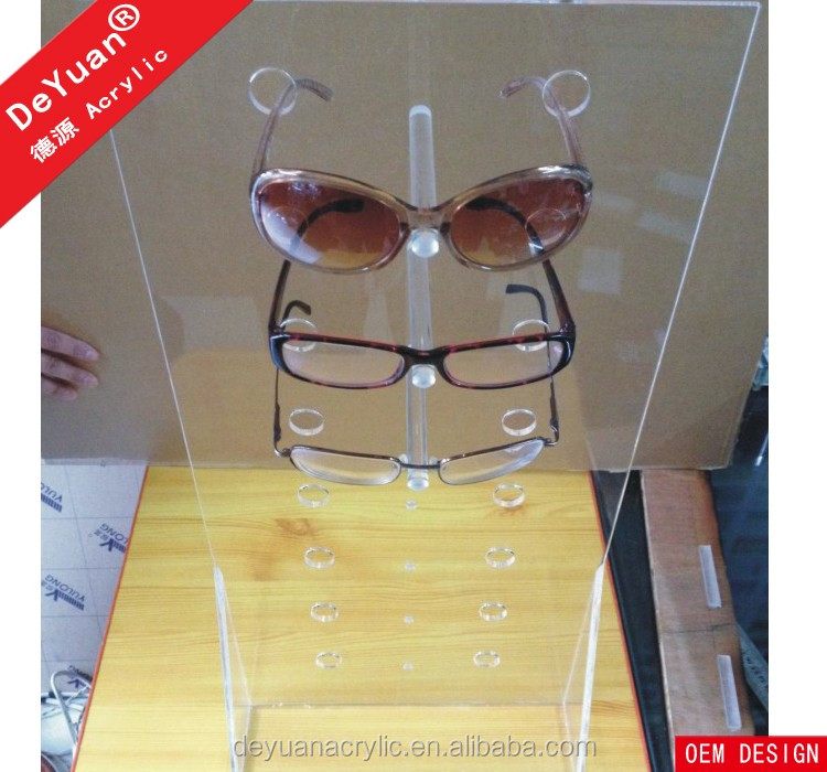Wall Mount Eyeglass Display Transparent Hot Selling