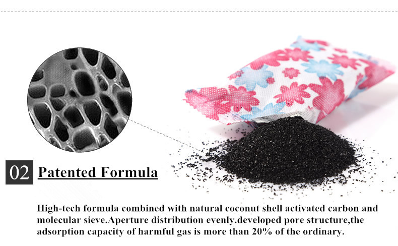 Activated Carbon Bag for Home New Home Formaldehyde, benzene, ammonia, TVOC Removal
