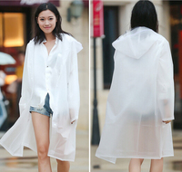 Clear Plastic Ladies Long In Raincoat