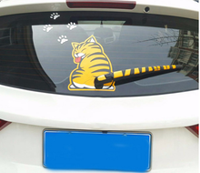 2017 Funny Creative Cartoon Cat Decoration Moving Tail Stickers Auto Vehicle Window Wiper Decals Car Outside Styling Decoration