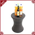 New style brown rattan furniture drink cooler with ice bucket