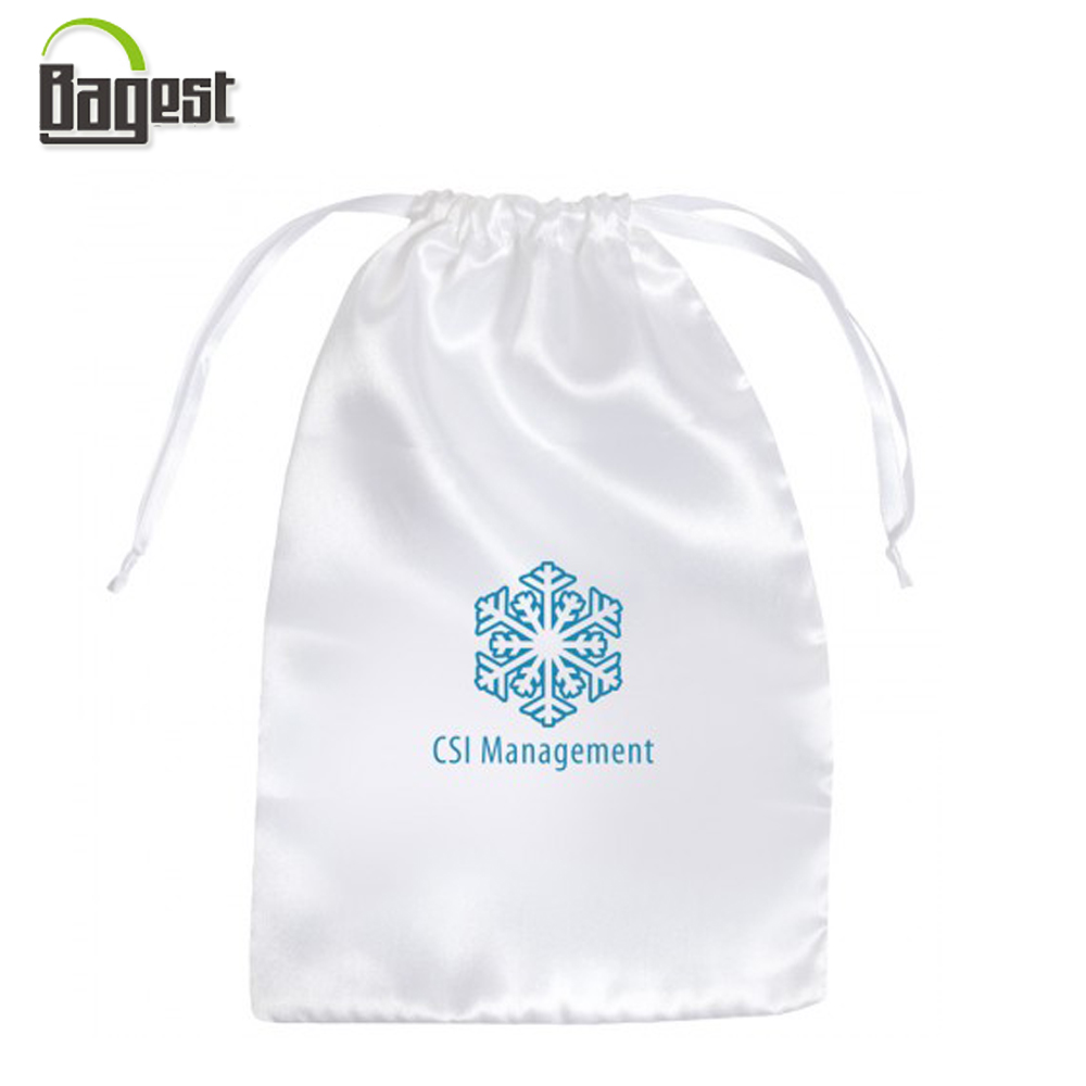 Cotton polyester nylon dust proof drawstring shoe bag