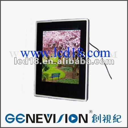 "17"" wall lcd advertising board with card playing"