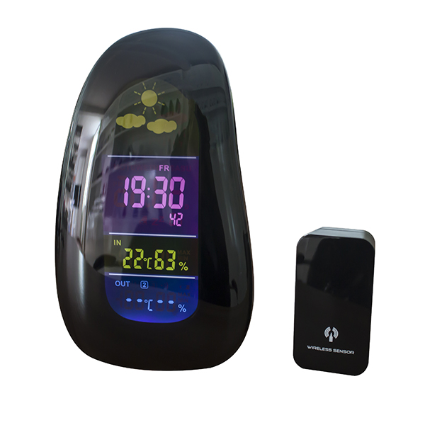 Digital Weather Station with LCD Clock Alarm, ABS Plastic Stand Gift Table &Desk Clock