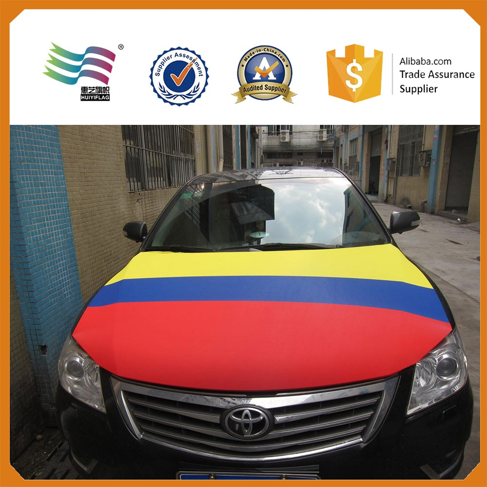 Sublimation printing flag car hood flag