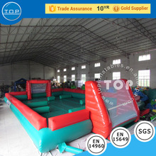 inflatable football soccer field arena pitch playground for party event