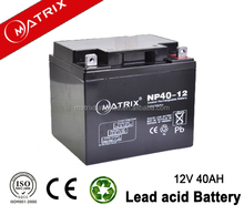 solar rechargeable gel battery 12v 40ah NP40-12